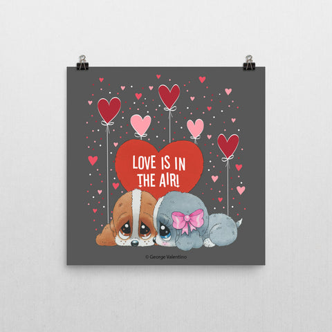 Love is in the Air Poster 12x12