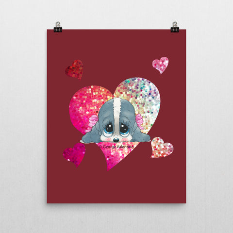 Honey® Head Heart Poster 16x20