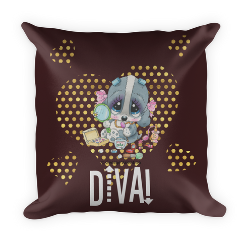 Diva! (Brown) Pillow
