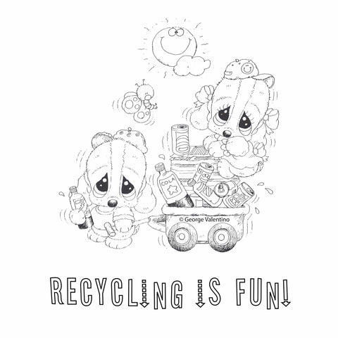 Recycling is Fun Coloring Book Page