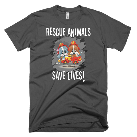 Rescue Animals Save Lives (Grey) T-Shirt