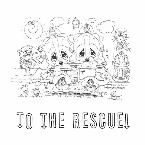To the Rescue Coloring Book Page