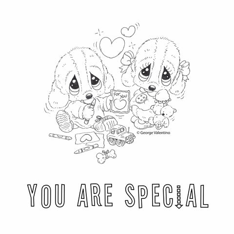 You Are Special Coloring Book Page