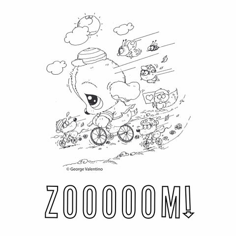 Zooom! Coloring Book Page