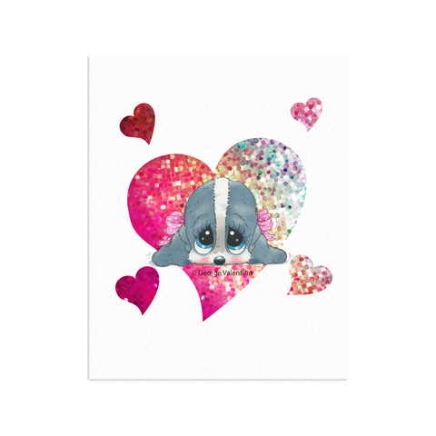 Honey® Head Heart Canvas 16x20