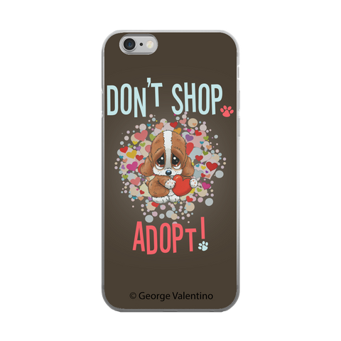 Don't Shop, Adopt! (Hearts) Phone Case