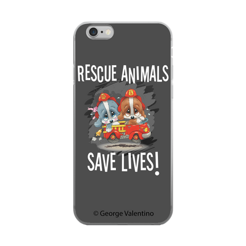 Rescue Animals Save Lives (Grey) Phone Case