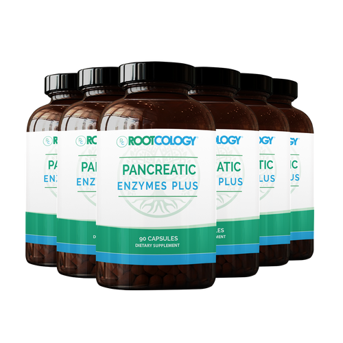 6 Bottles of Rootcology Pancreatic Enzymes Plus Supplement