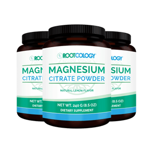 Magnesium Citrate Powder 3 Bottles - Rootcology