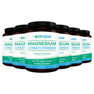 Magnesium Citrate Powder 6 Bottles - Rootcology