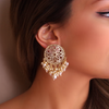 Helios Gold Plated Earrings