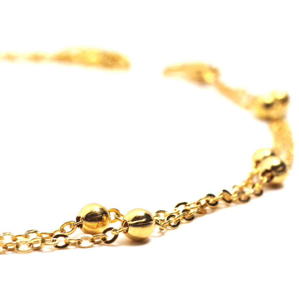 Multi Sphere Gold Anklet