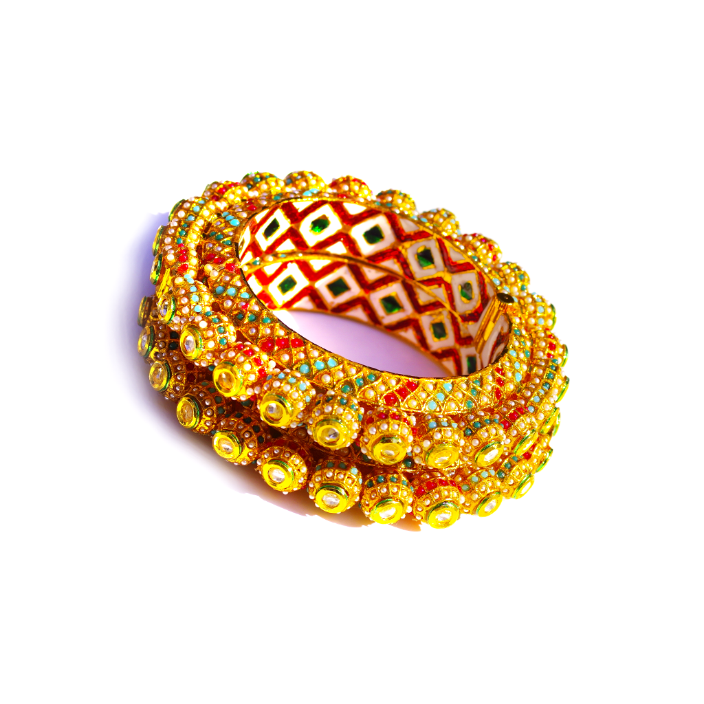 Gold Plated Statement Bangles