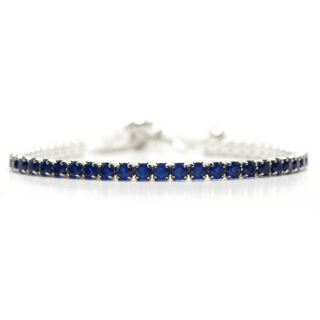 Lavish Blue Diamante Adjustable Bracelet