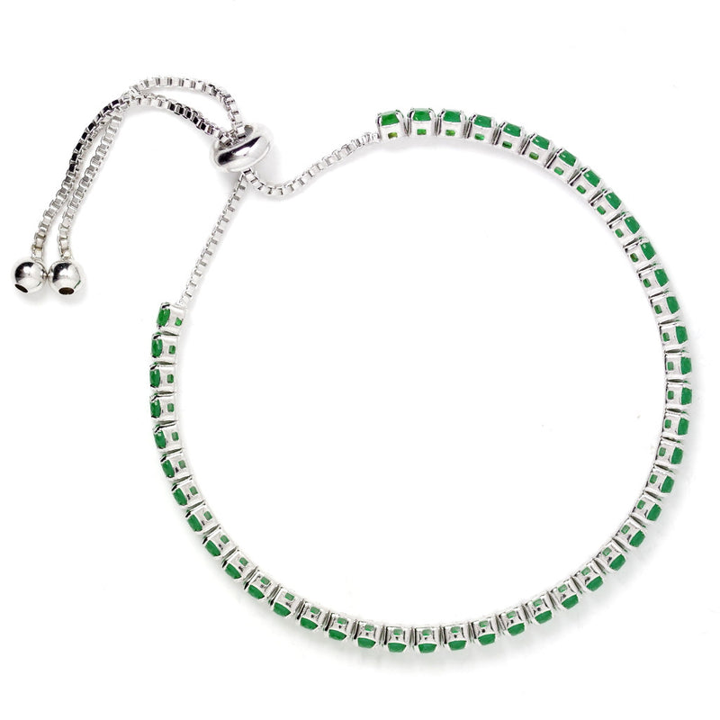 Lavish Green Diamante Adjustable Bracelet - SATORI ACCESSORIES
