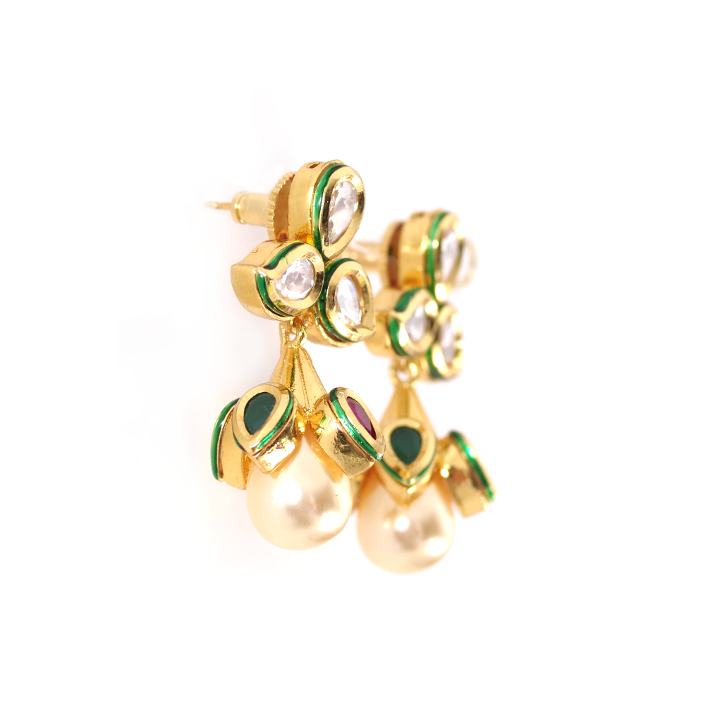 Isha Gold Kundan Earrings