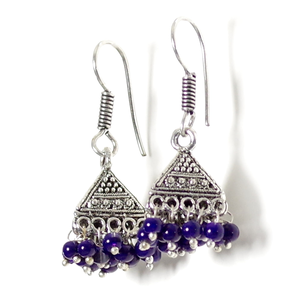 Tara Blue Jhumka Earrings
