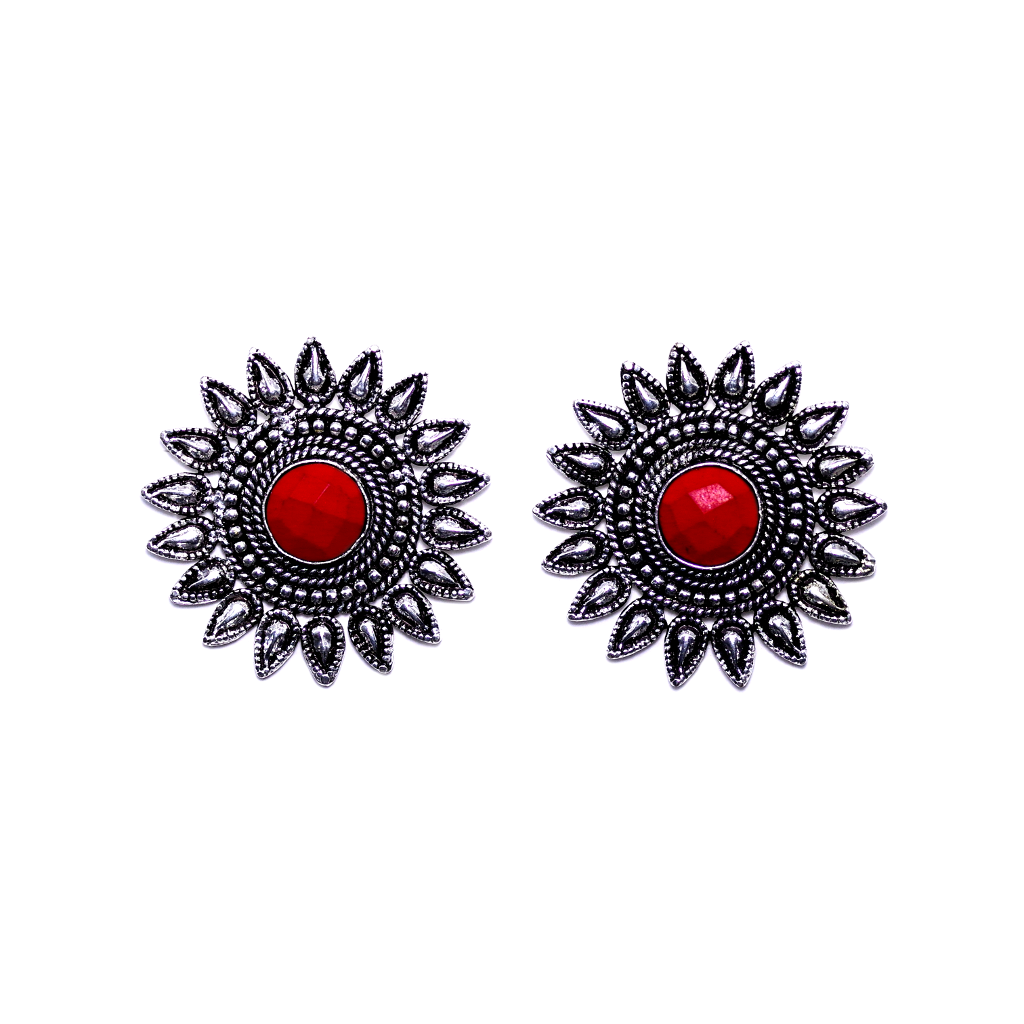 Surya Red Earrings