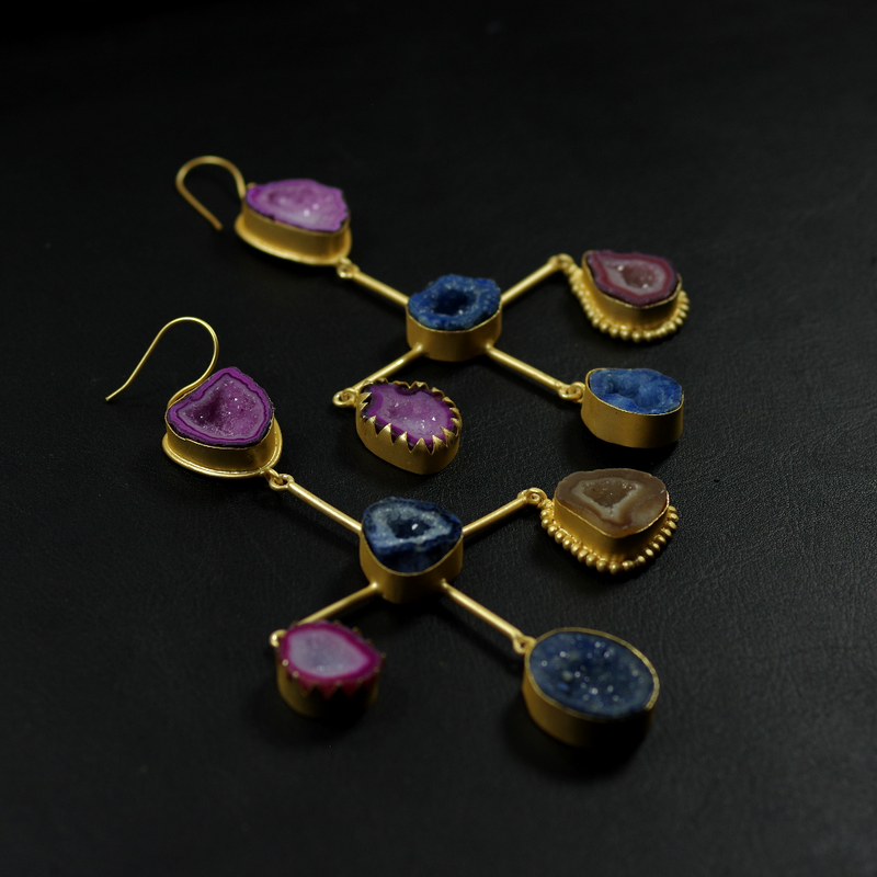 Agate Statement Earrings