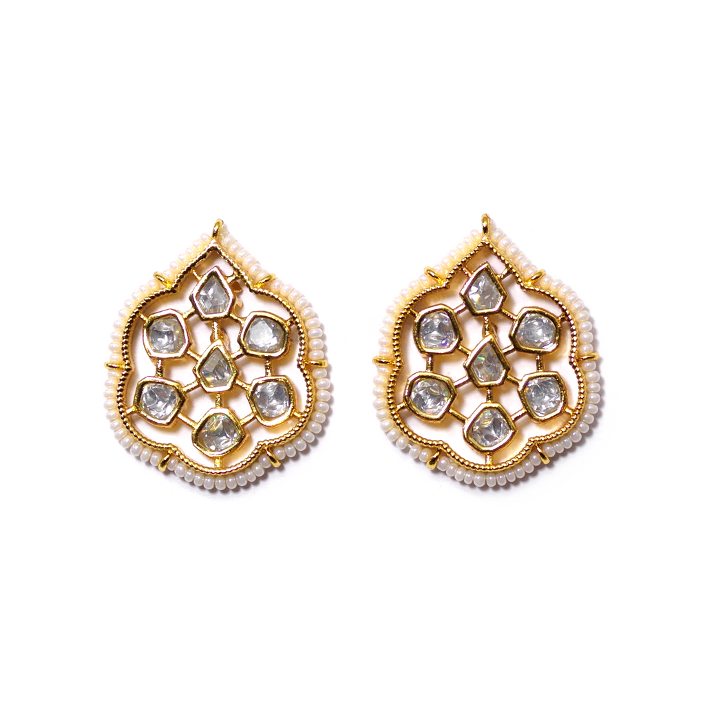 Geometric Gold Plated Earrings - SATORI ACCESSORIES