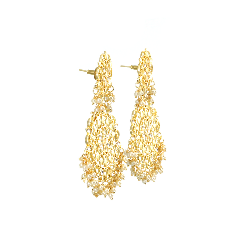Gold Plated Statement Earrings