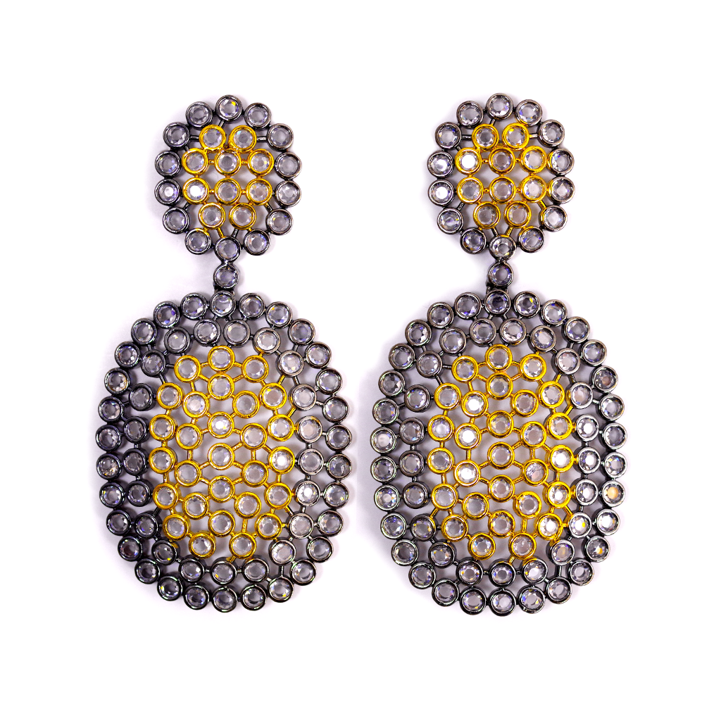 Honeycomb Statement Earrings