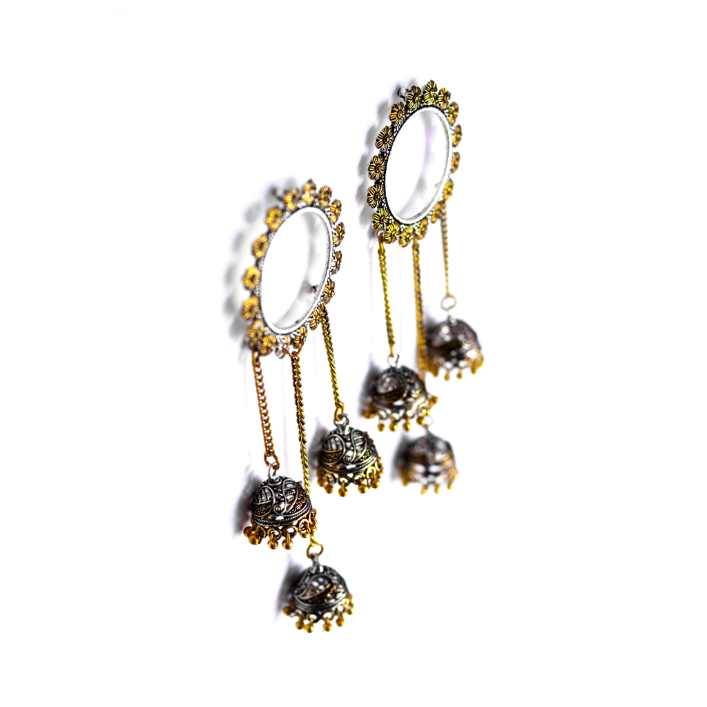 Eva Jhumka Drop Earrings - SATORI ACCESSORIES