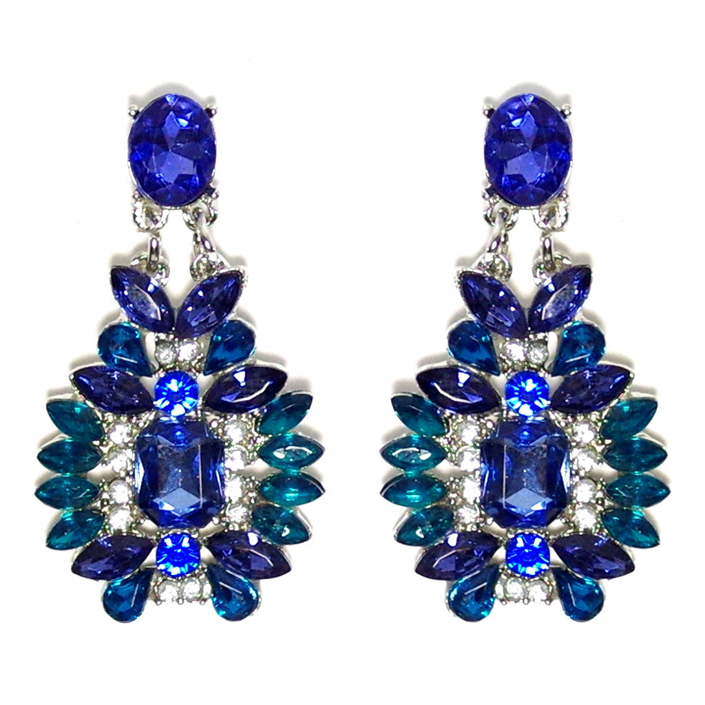 Blue Burst Earrings