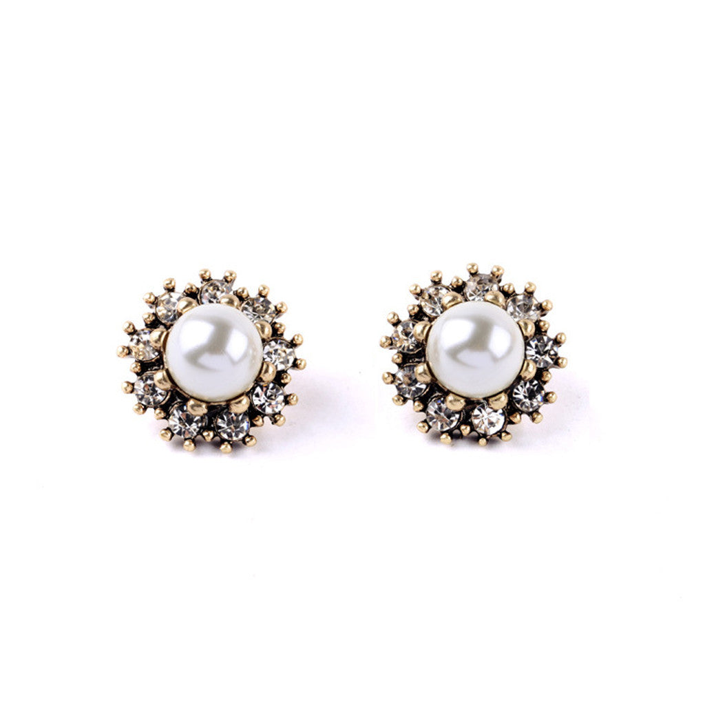 Large Pearl Stud Earrings
