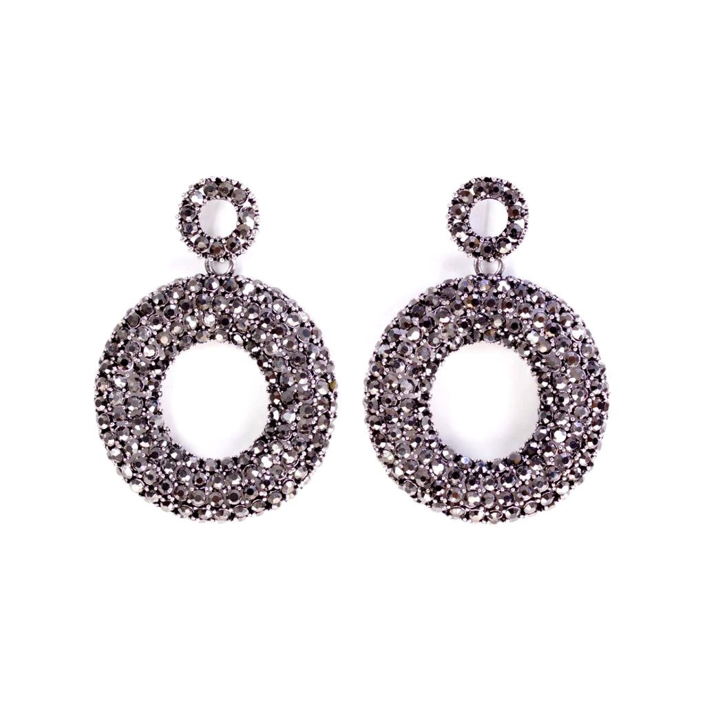Shimmer Silver Statement Earrings