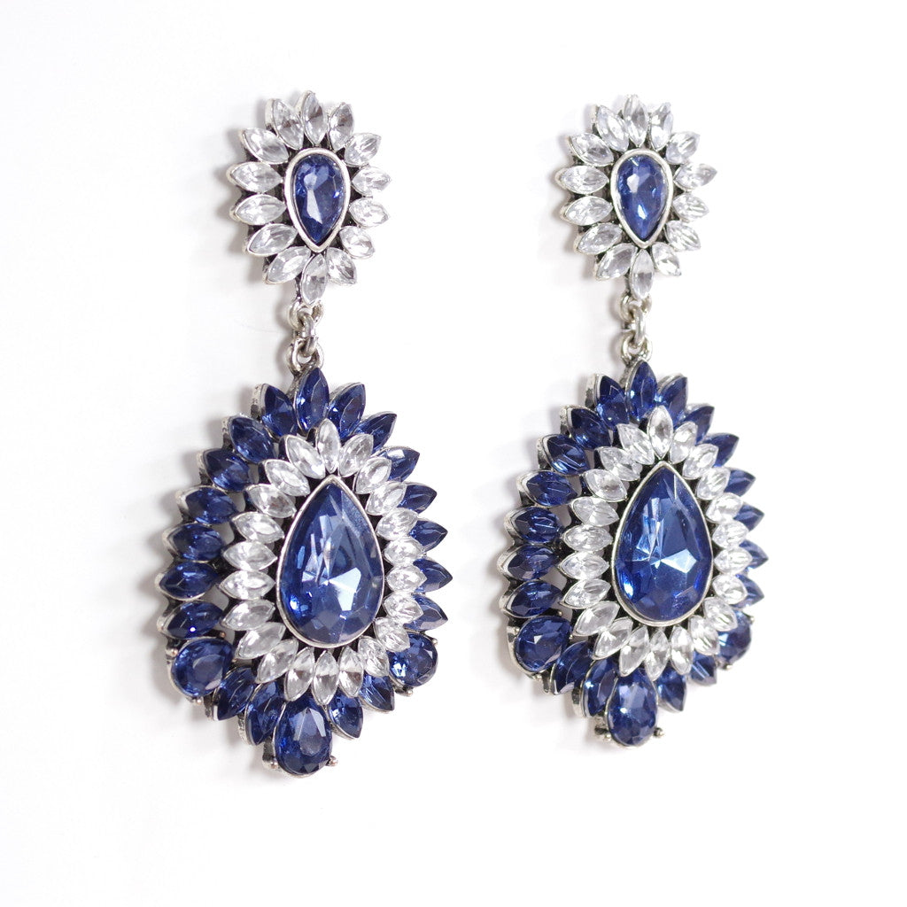 Sapphire Blue Statement Earrings