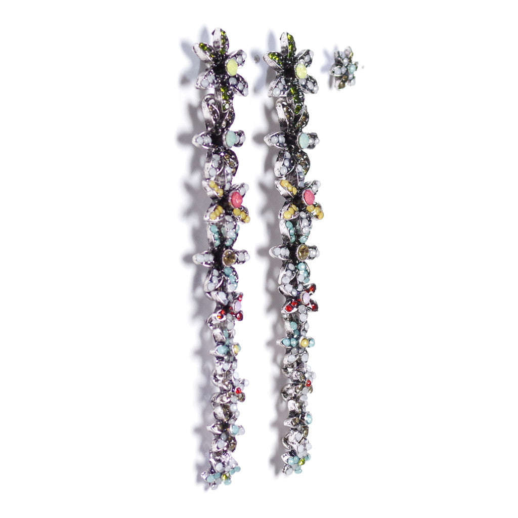 Alice Spring Bloom Long Drop Earrings & Stud