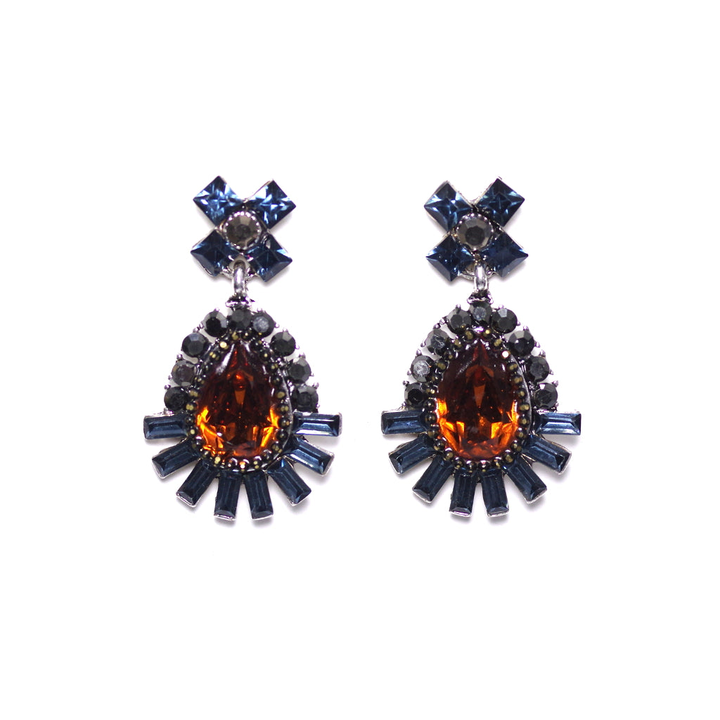 Dazzle Blue Earrings