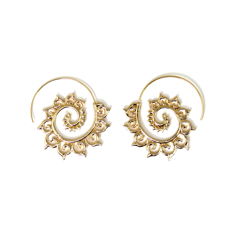 Gold Tribal Earrings