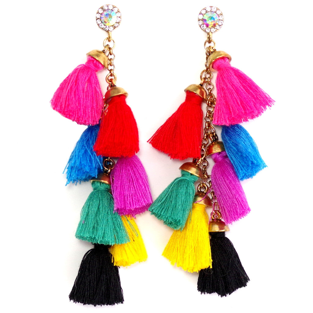 Mini Tassels Colour Earrings