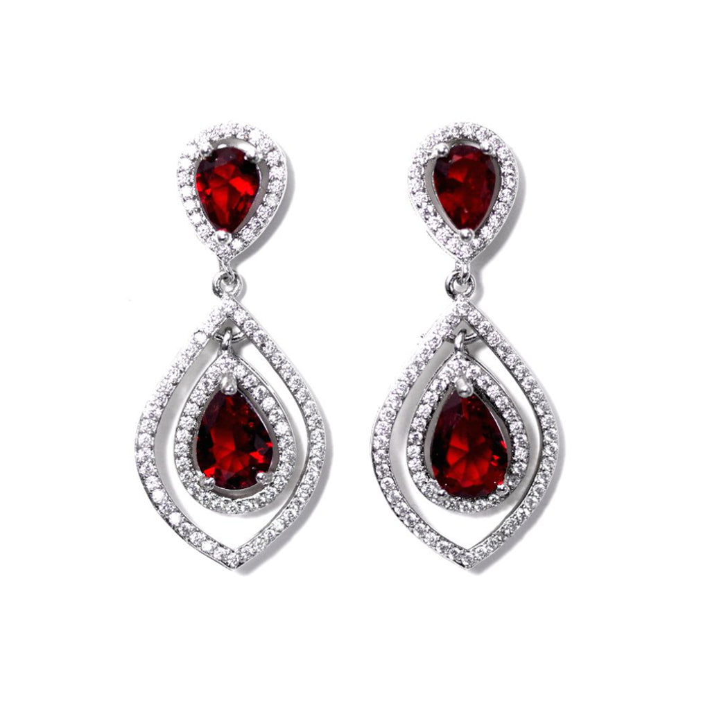 Eternity In Red Earrings