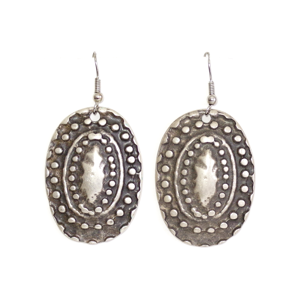 Silver Coral Earrings