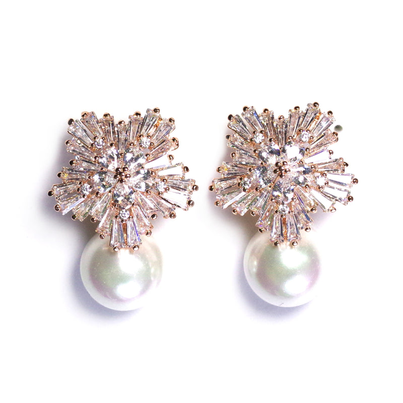 Pearly Rose Earrings