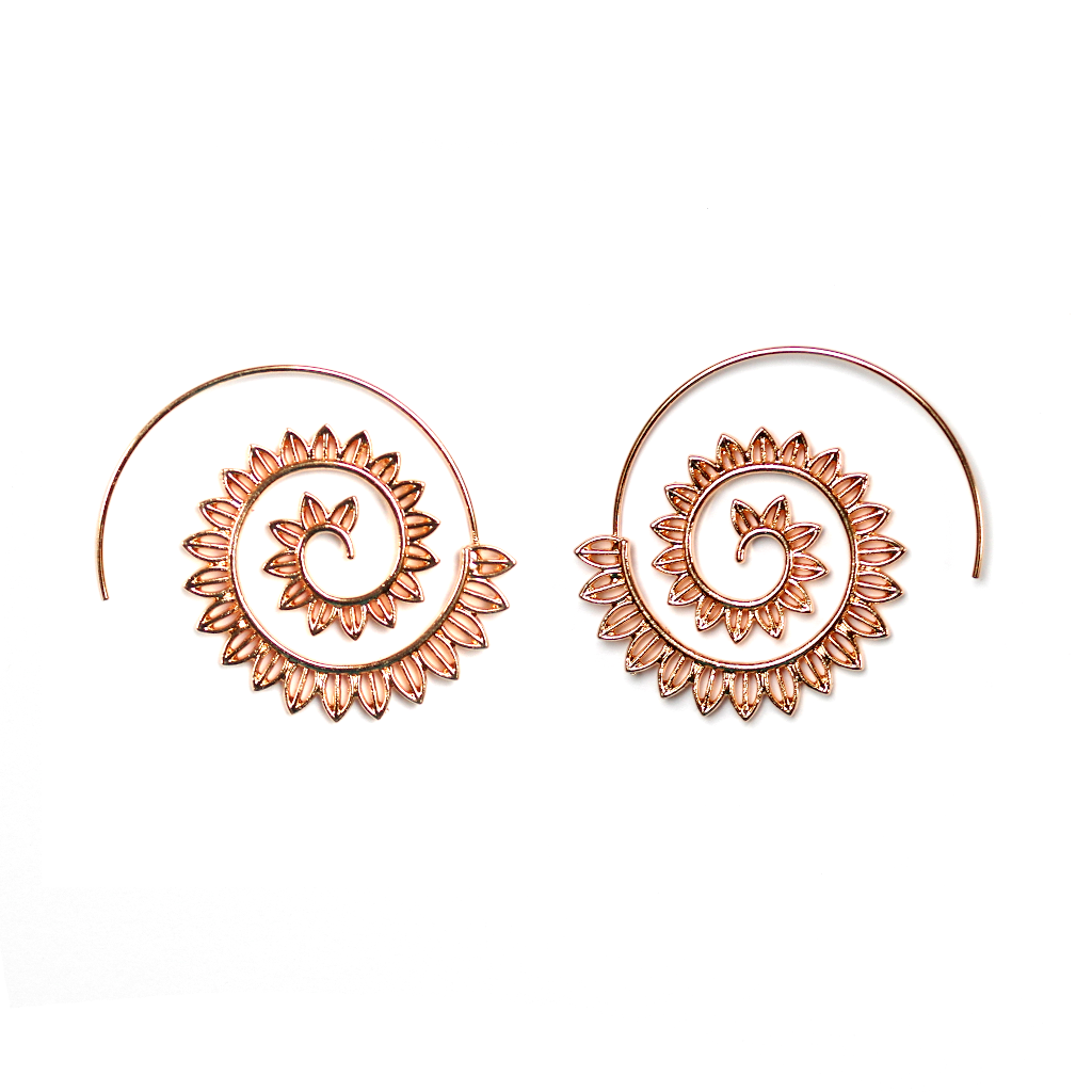 Rose Gold Tribal Earrings