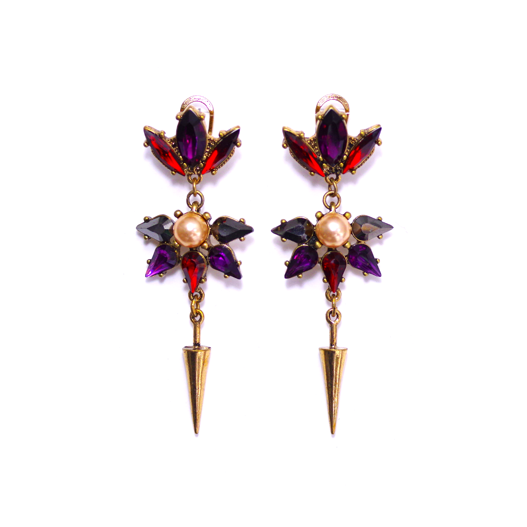 Pearl Accented Bloom Drop Earrings