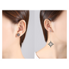 Pearly Wave Smoked Black Earrings