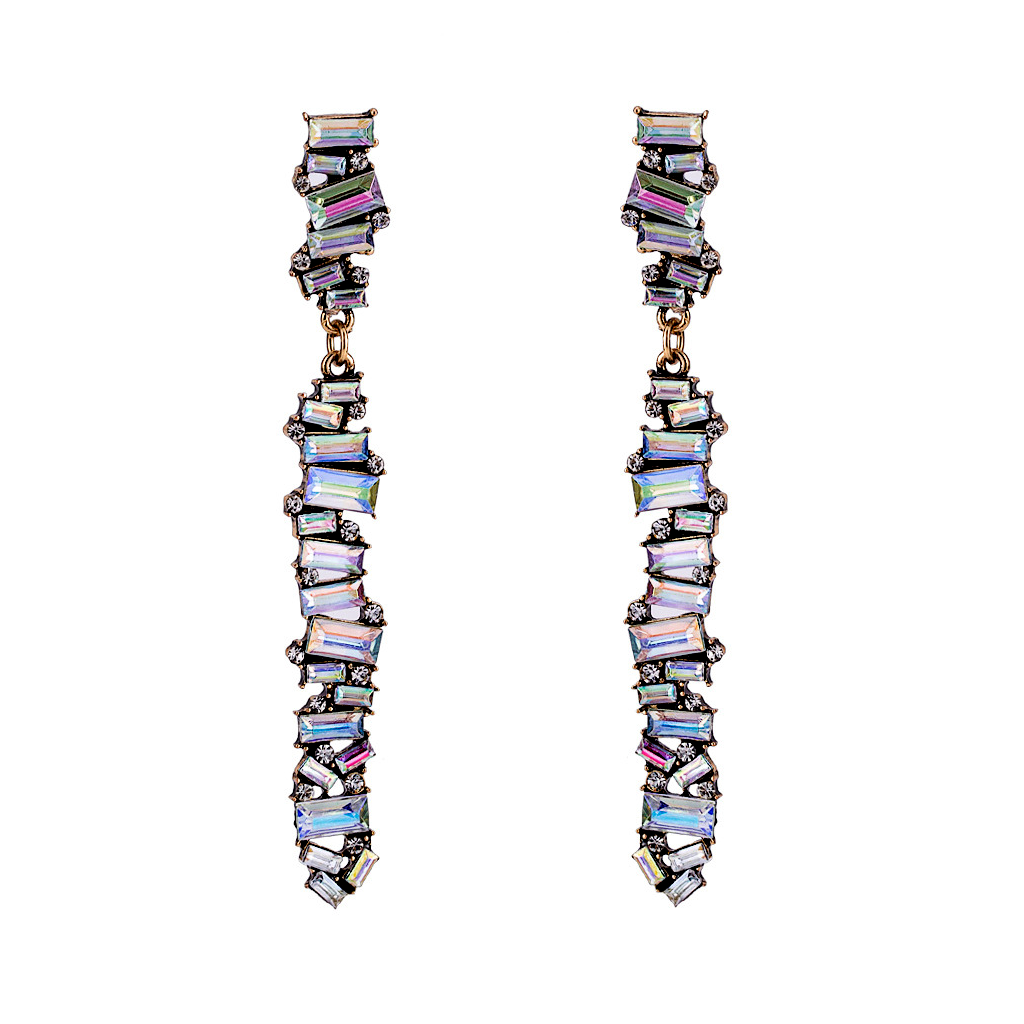 Fluorescent Rainbow Drop Earrings