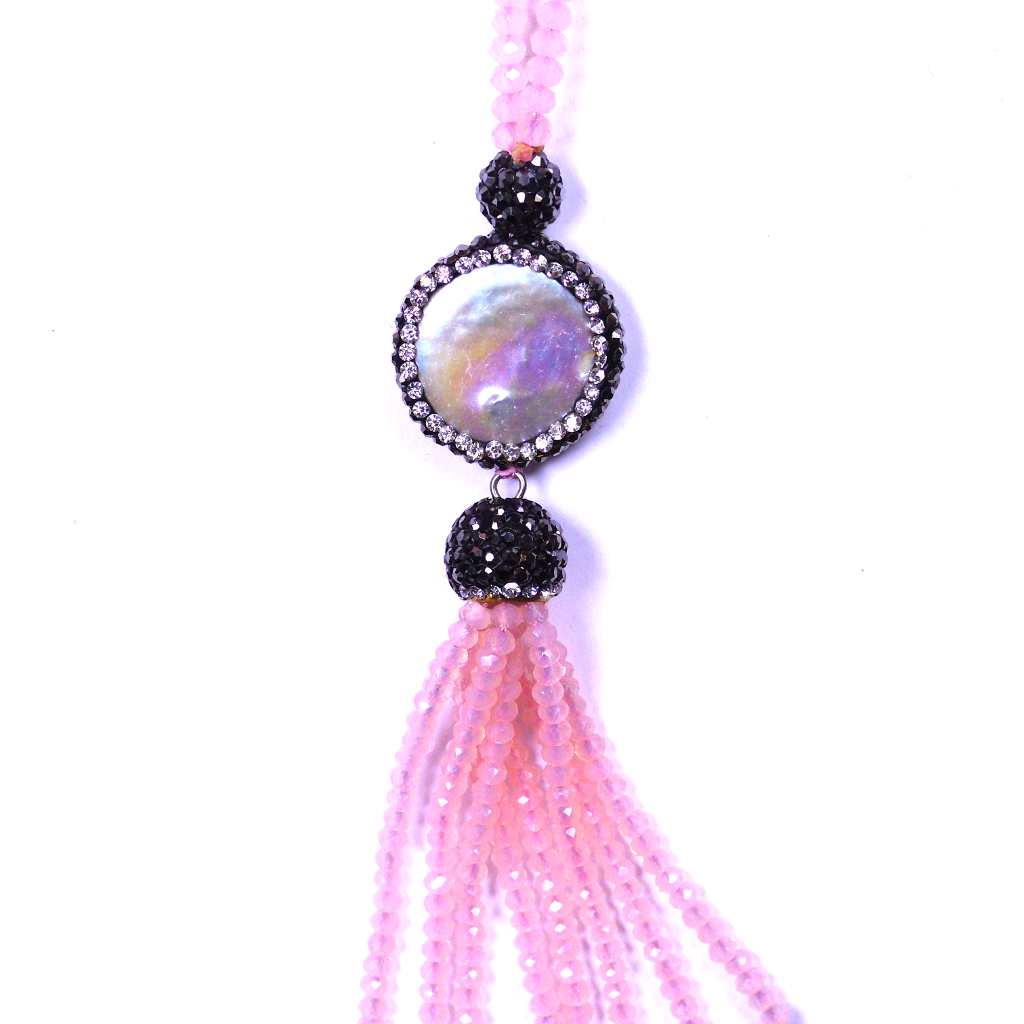 Swarovski & Mother Of Pearl Pink Necklace