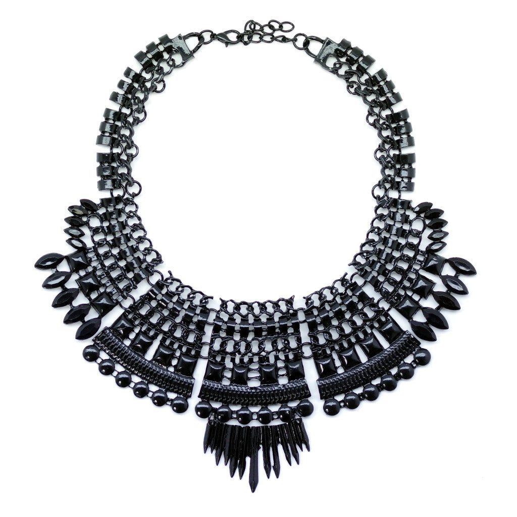 Black Spike Necklace