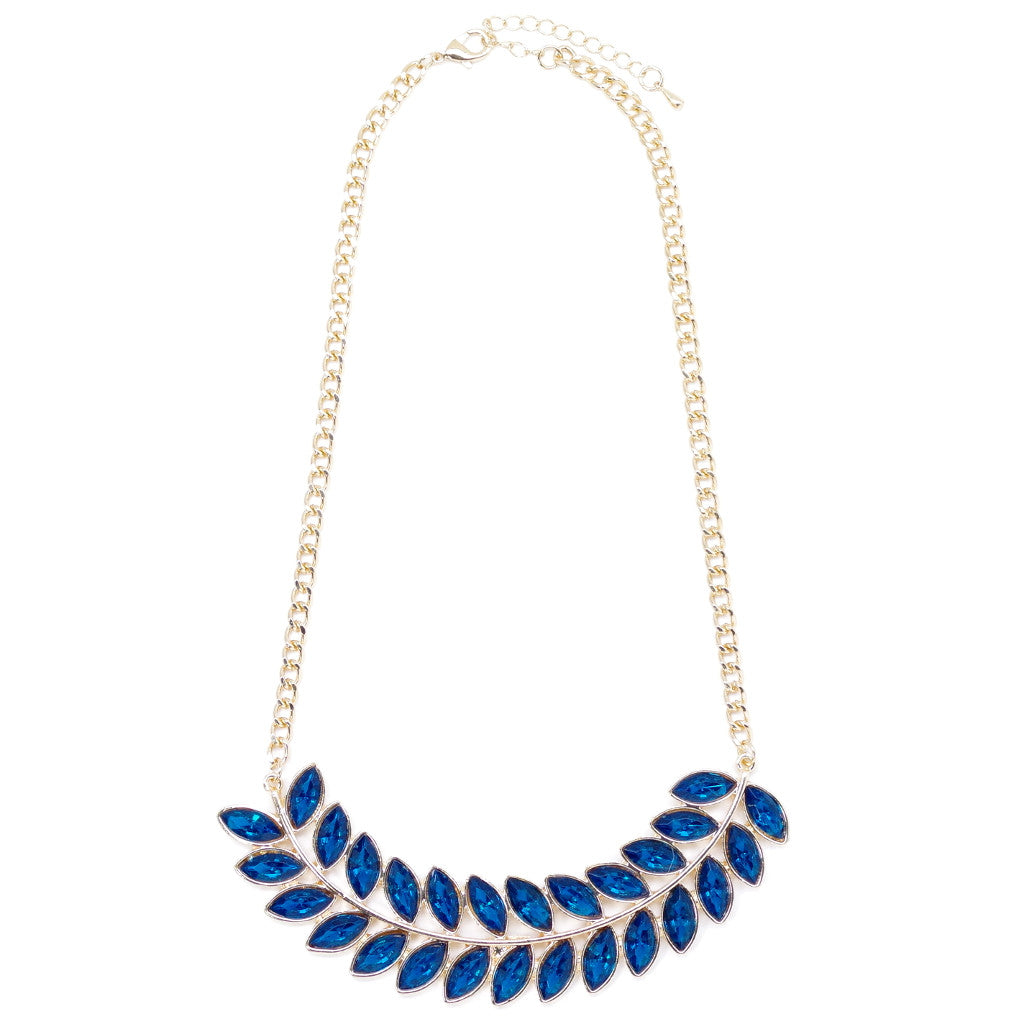 Leaf In Blue Necklace