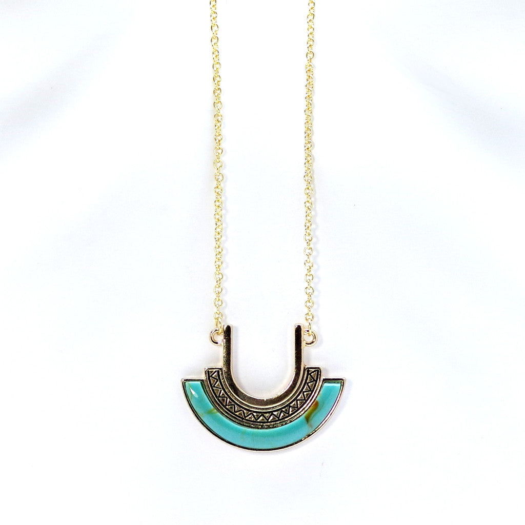 Aztec Drop Necklace