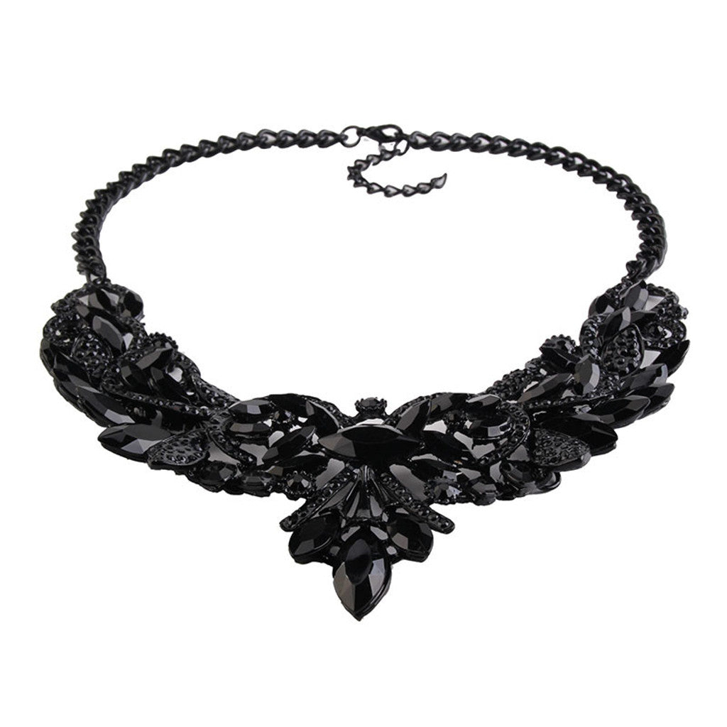 Black Art Deco Necklace