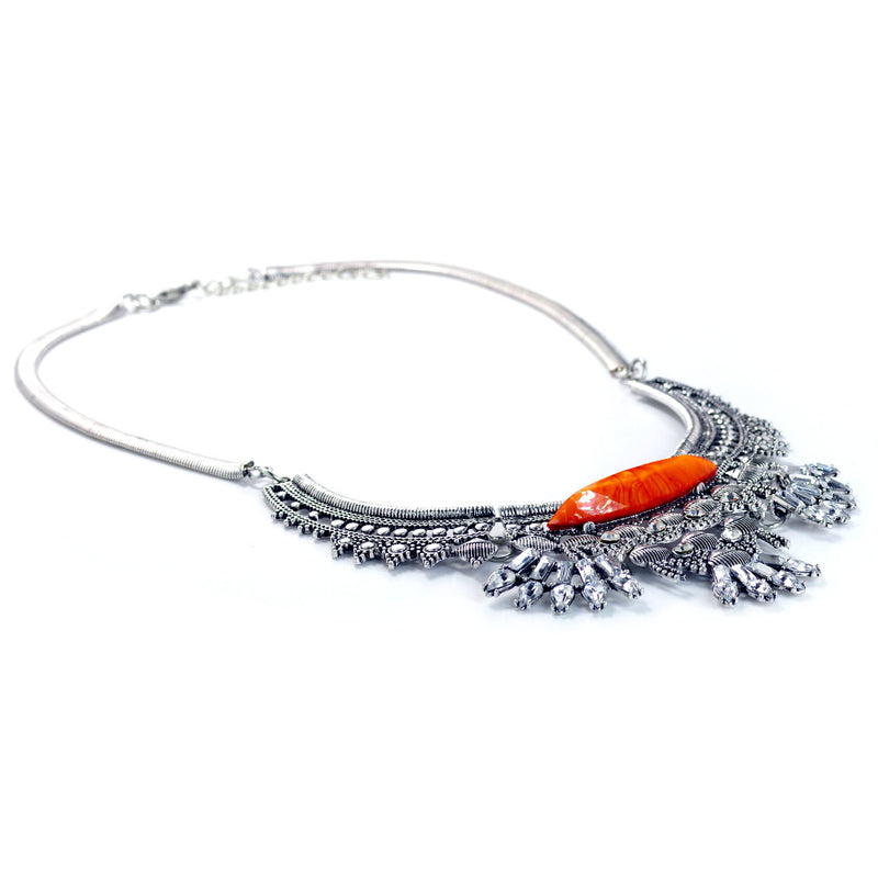 Orange Accenti Necklace - SATORI ACCESSORIES