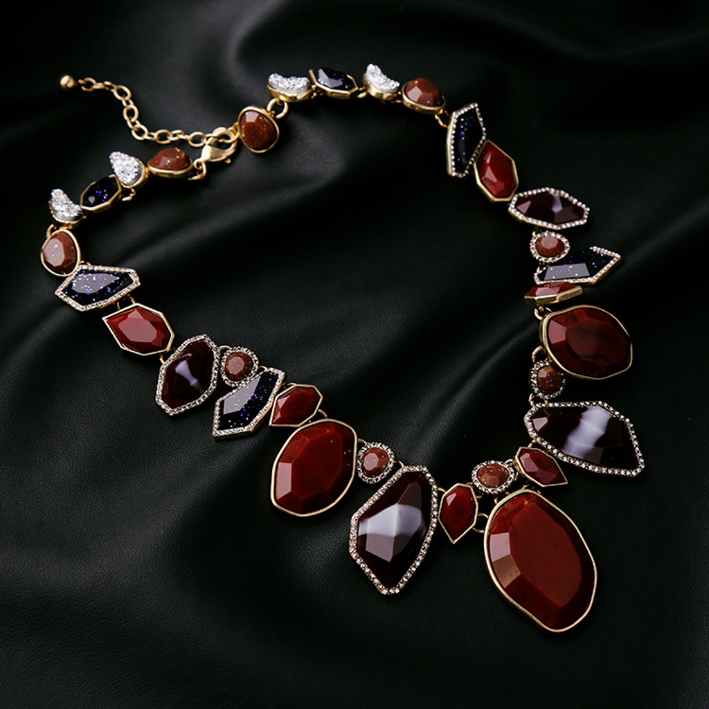 Contort In Burgundy Necklace