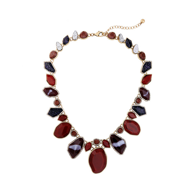 Contort In Burgundy Necklace - SATORI ACCESSORIES